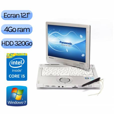 Panasonic Toughbook CF-C1 MK2 - Windows 7 - i5 4Go 320Go - 12.1 touch - Tablet PC Convertible