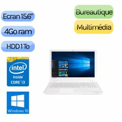 TOSHIBA SATELLITE C55-C-1F6 - Windows 10 - i3 4Go 1000Go - HD8550 - Webcam - 15.6 - Ordinateur Portable PC