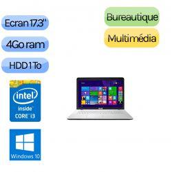 Asus X751LJ-TY109T - Windows 10 - i3 4Go 1000Go - GT920M - Webcam - 17.3 - Blanc - Ordinateur Portable PC