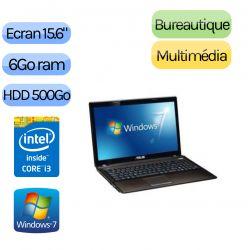 Asus X53SD-SX867V - Windows 7 - i3 6Go 500Go - 610M - Webcam - 15.6 - Ordinateur Portable PC