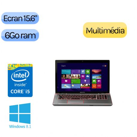 TOSHIBA QOSMIO X870-165 Gaming - Windows 8.1 - i5 6GB 720GB - 15.6 - GTX670M - Webcam - Ordinateur PC Potable Jeu