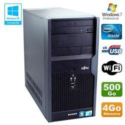 Fujitsu ESPRIMO P2560 - Windows 7 - E5500 4GB 500GB - Ordinateur Tour Bureautique PC