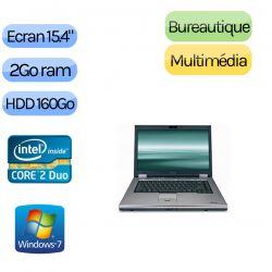 PC Portable Toshiba et sa sacoche neuve offerte - Windows 7 - C2D 2Go 160 Go - 15.4 - Ordinateur Portable