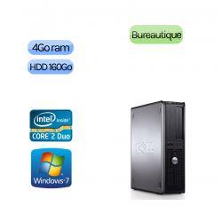 Lot de 5 x Tour Dell Faible encombrement - Windows 7 - Double Coeur 4GB 160GB - Ordinateur Tour Bureautique PC