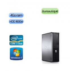 Lot de 5 x Tour Dell Faible encombrement - Windows 7 - Double Coeur 4GB 160GB - Ordinateur Tour Bureautique PC