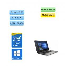 "HP 17-x136nf - Windows 10 - i7 4Go 1To - Webcam - 17.3"" - HD Graphics 620 - Ordinateur portable"