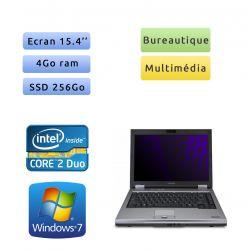 Toshiba Tecra A10 - Windows 7 - C2D 4Go 240Go SSD - 15.4 - Ordinateur Portable
