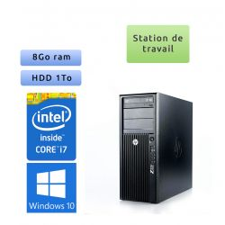 HP Workstation Z220 - Windows 10 - i7 8Go 1To - Ordinateur Tour Workstation PC