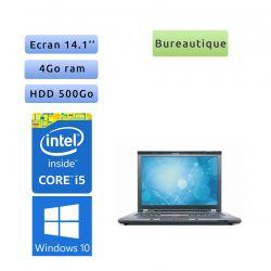 Lenovo ThinkPad T410 - Windows 10 - i5 4GB 500GB - 14.1 - Webcam - Ordinateur Portable PC