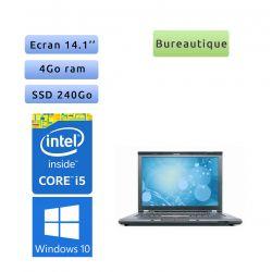 Lenovo ThinkPad T410 - Windows 10 - i5 4GB 240GB SSD - 14.1 - Webcam - Ordinateur Portable PC