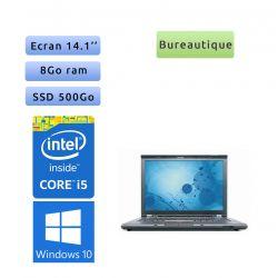 Lenovo ThinkPad T410 - Windows 10 - i5 8GB 500GB SSD - 14.1 - Webcam - Ordinateur Portable PC