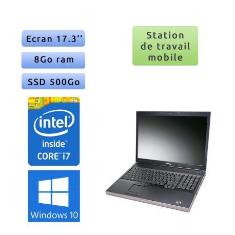 Dell Precision M6500 - Windows 10 - i7 8GB 500GB SSD - 17.3 - Station de travail Mobile