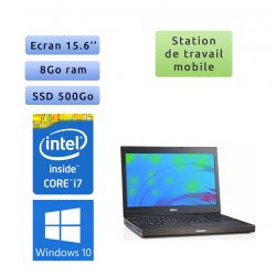 Dell Precision M4700 - Windows 10 - i7 8Go 500Go SSD - 15.6 - Webcam - K2000M - Station de travail Mobile PC Ordinateur