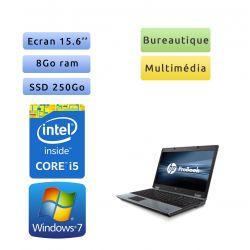 HP Compaq 6550b - Windows 7 - i5-520M 8GB 250GB SSD - 15.6 - Webcam - Ordinateur Portable PC