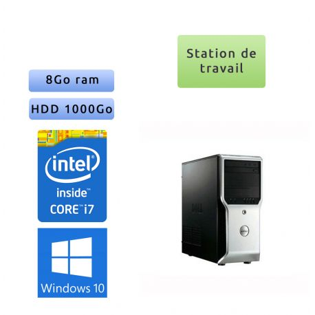 Dell Precision T1500 - Windows 10 - i7 8Go 1To - FX 580 - Ordinateur Tour Workstation PC