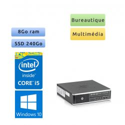 Hp 8300 Elite USDT - Windows 10 - i5 8GB 240GB SSD - PC Tour Bureautique Ordinateur