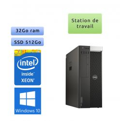 Dell Precision T5810 - Windows 10 - E5-1650v3 32Go 512Go SSD - K4200 - Ordinateur Tour Workstation PC