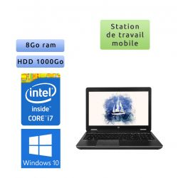 HP Zbook 15 - Windows 10 - i7 8Go 1To - 15.6 - webcam - Station de travail - Design & Illustrator