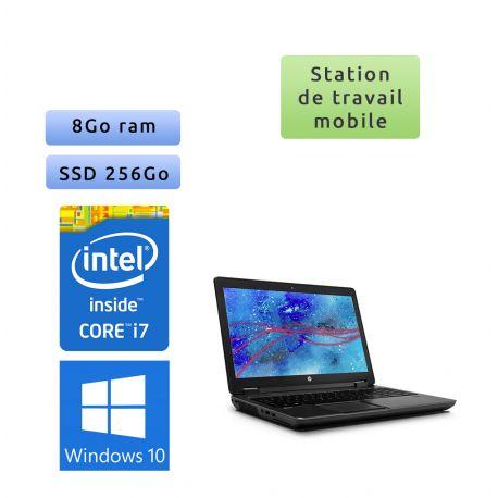 HP Zbook 15 - Windows 10 - i7 8Go 256Go SSD - 15.6 - webcam - Station de travail - rapidité