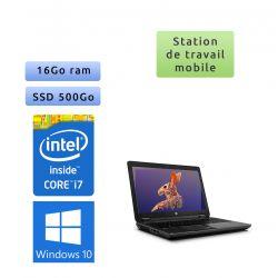 HP Zbook 15 - Windows 10 - i7 16Go 500Go SSD - 15.6 - webcam - Station de travail - rapidité