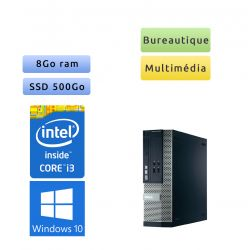 Dell Optiplex 390 SFF - Windows 10 - i3 8Go 500Go SSD - Ordinateur Tour Bureautique PC