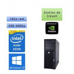HP Workstation Z420 - Windows 10 - E5-1650 v2 16Go 500Go SSD - K4000 - Ordinateur Tour Workstation PC