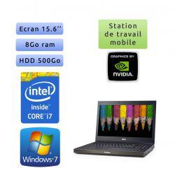 Dell Precision M4700 - Windows 7 - i7 8Go 500Go - 15.6 - Webcam - K2000M - Station de travail Mobile PC Ordinateur