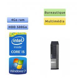 Dell Optiplex 7010 SFF - Windows 7 - i5 4Go 500Go - Ordinateur Tour Bureautique PC