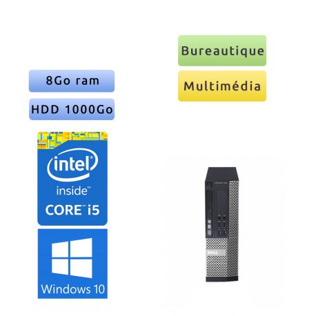 Dell Optiplex 7010 SFF - Windows 10 - i5 8Go 1To - Ordinateur Tour Bureautique PC