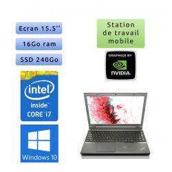 Lenovo ThinkPad W540 - Windows 10 - i7 16Go 240Go SSD - 15.5 - K2100M - Webcam - Workstation Ordinateur Portable PC
