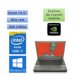 Lenovo ThinkPad W540 - Windows 10 - i7 8Go 240Go SSD - 15.5 - K2100M - Webcam - Workstation Ordinateur Portable PC