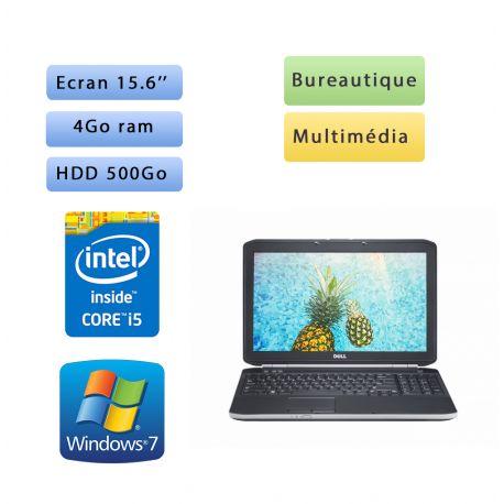 Dell Latitude E5520 - Windows 7 - i5 4Go 500 Go - 15.6 - Webcam - Ordinateur Portable PC