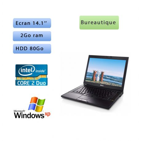 Dell Latitude E6400 2.26Ghz - Windows XP - C2D 2GB 80GB - 14.1 - Ordinateur Portable PC