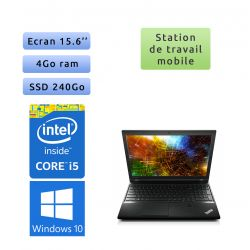 Lenovo ThinkPad L540 - Windows 10 - i5 4Go 240Go SSD - 15.6 - Webcam - Workstation Ordinateur Portable PC