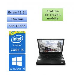 Lenovo ThinkPad L540 - Windows 10 - i5 8Go 480Go SSD - 15.6 - Webcam - Workstation Ordinateur Portable PC