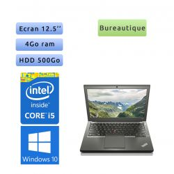Lenovo ThinkPad X240 - Windows 10 - i5 4Go 500Go - 12.5 - Webcam - Ordinateur Portable PC