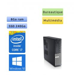 Dell Optiplex 790 SFF - Windows 10 - i7 8Go 240Go SSD - Ordinateur Tour Bureautique PC