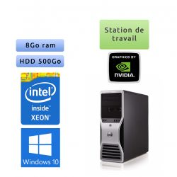 Station de travail Dell Precision T5500 - Windows 10 - E5507 8Go 500Go - FX1500 - Ordinateur Tour Workstation PC