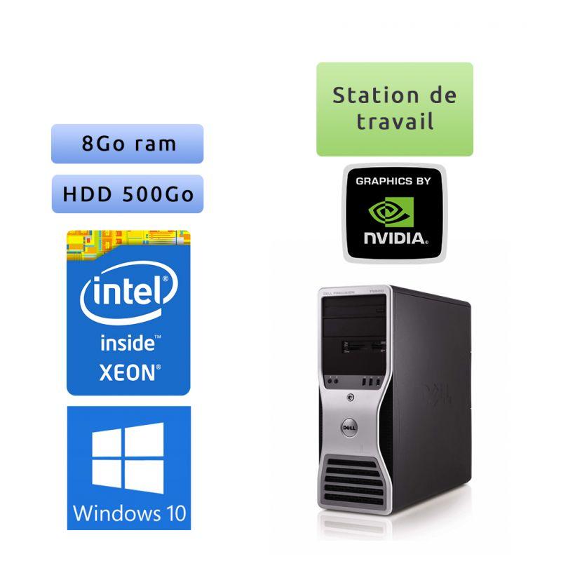 Station de travail Dell Precision T5500 - Windows 10 - E5507 8Go 500Go - FX1500 - Ordinateur Tour Workstation PC
