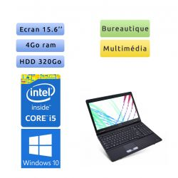 Toshiba Tecra A11 - Windows 10 - i5 4Go 320Go - Webcam - 15.6 - Ordinateur Portable
