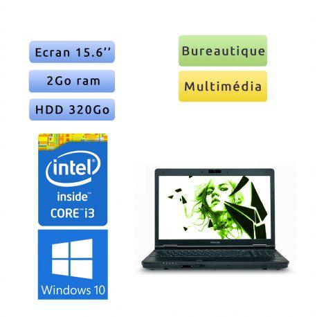 Toshiba Tecra A11 - Windows 10 - i3 2Go 320Go - Webcam - 15.6 - Ordinateur Portable