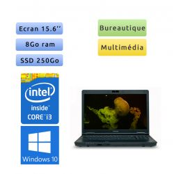 Toshiba Tecra A11 - Windows 10 - i3 8Go 250 Go SSD - Webcam - 15.6 - Ordinateur Portable