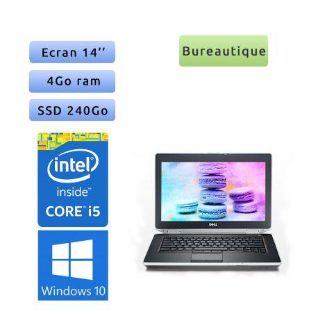 """PC portable Dell Windows 10 - i5 4GB 240GB SSD 14.1"""" - Ordinateur"""