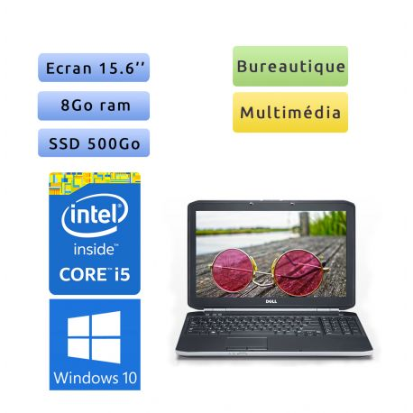 """PC portable Dell Windows 10 - i5 8GB 500GB SSD 15.6"""" - Ordinateur"""