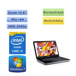 Dell Vostro 2520 - Windows 7 - i3 4GB 320GB - 15.6 - Webcam - Grade B - Ordinateur Portable