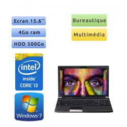 Toshiba Tecra R850 - Windows 7 - i3 4Go 500 Go - Webcam - 15.6 - Ordinateur Portable