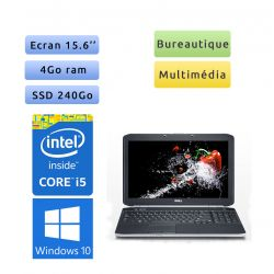 "PC portable Dell Windows 10 - i5 4GB 240GB SSD 15.6"" - Ordinateur"
