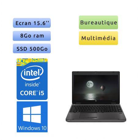 "PC portable HP Windows 10 - i5 8GB 500GB SSD 15.6"" - Ordinateur"
