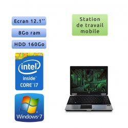 Hp EliteBook 2540p - Windows 7 - i7 8GB 160GB - 12.1 - Station de Travail Mobile PC Ordinateur