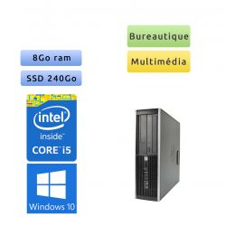 Tour HP faible encombrement - Windows 10 - i5 8Go 240Go SSD - polyvalent - media center